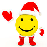 Happy face in Santa's costume Stock Photos