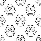 Happy face seamless pattern Royalty Free Stock Images