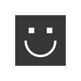 happy face square isolated icon design Royalty Free Stock Photo