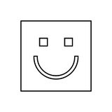 happy face square isolated icon design Royalty Free Stock Photography