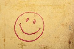 Happy face stamp Royalty Free Stock Images
