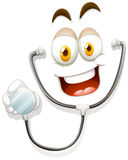 Happy face with stethoscope Royalty Free Stock Photo