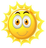Happy face on the sun Stock Photography