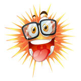 Happy face on thorny ball Stock Photos