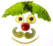 Happy face from vegetable. Food for children stock photography