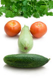 Happy face in vegetable, healthy eating Stock Image