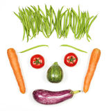 Happy face with vegetables Royalty Free Stock Photo
