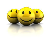 Happy faces royalty free illustration