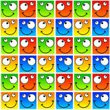 Happy faces stock illustration