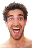 Happy facial expression royalty free stock image