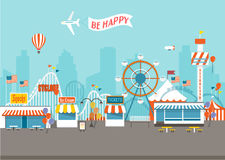 Happy Fair day. Vector Concept of Happy Fair day with  objects Stock Photo