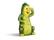 Happy fairy cartoon cucumber Royalty Free Stock Images