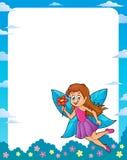 Happy fairy theme frame 1 Stock Photos