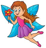 Happy fairy theme image 4 Royalty Free Stock Images