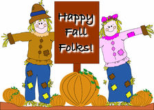 Happy Fall (Autumn) greeting Stock Images