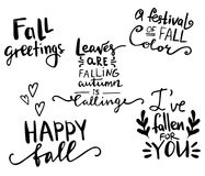 Fall autumn greeting card Stock Images