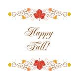 Happy fall card Royalty Free Stock Image