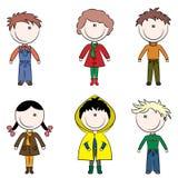Happy fall kids Stock Photography