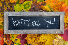 Happy fall slate stock image