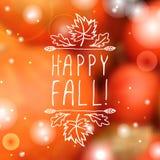 Happy Fall - typographic element Royalty Free Stock Photos