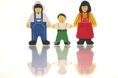 Happy Families. Parents an child royalty free illustration