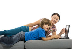 Happy familly Stock Photos