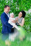 Happy Familly portrait stock photography