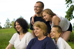 Happy family. Many happy people of one family Stock Image