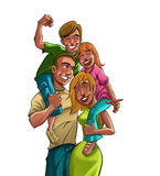 Happy family. Having fun together Royalty Free Stock Images