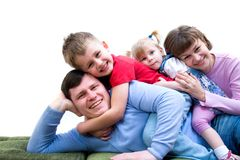 We are happy family Stock Image
