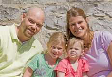 Happy Family. Attractive Family of Four on a Sunny Day Royalty Free Stock Image