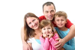 We are happy family Royalty Free Stock Image