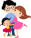 Happy family. Have a daughter, illustration art Stock Image