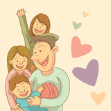 Happy Family. Happy and cheerful family relationship Royalty Free Stock Photos