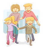Happy Family. Happy and cheerful Family relationship Stock Photos