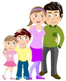 Happy family. Illustration of a portrait of a happy family Royalty Free Stock Images