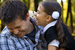 Happy family. Having Fun at summer park Royalty Free Stock Images