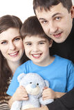 Happy family. Image of a happy family on white Royalty Free Stock Image