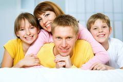 A happy family Royalty Free Stock Photography