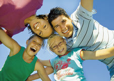 Happy family 3 Stock Image