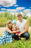Happy family of 3 people Royalty Free Stock Photography