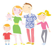 A Happy Family Royalty Free Stock Images