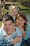 Happy Family 4. Portrait of happy siblings Royalty Free Stock Photography
