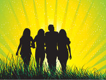 Happy family. Having fun outdoors vector illustration