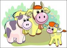 Happy family. Original file was created in Adobe Illustrator Stock Image