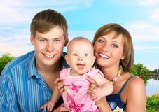 Happy family. Stock Images