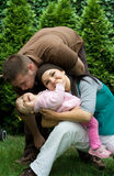 Happy family. Have fun outdoor Stock Photos