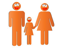 Happy family. Silhouettes vector illustration Stock Photography
