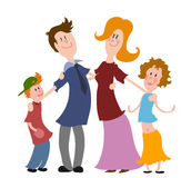 Happy family. Parents with two children Royalty Free Stock Image