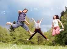 Happy family. On a sunny day royalty free stock photos